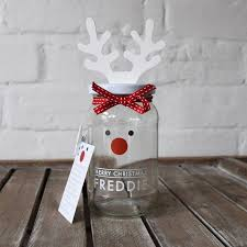 Decorated Jam Jars For Christmas Personalised Decorate Your Own Rudolf Treat Jar By Jodie Gaul 82