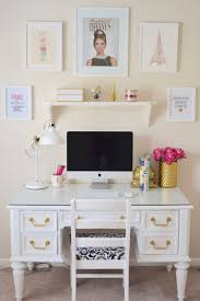 lovely long desks home office 5. chalk paint white desk chic inspirational office lovely long desks home 5