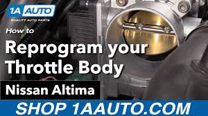 2003 Nissan Murano Service Engine Soon Light Reset How To Reprogram Your New Throttle Body 02 06 Nissan Altima