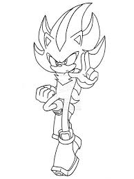 Small Picture Shadow the Hedgehog coloring pages Free Printable Shadow the