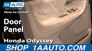 how to remove door panel 99 04 honda odyssey