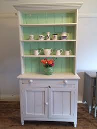 painted green furniture. Vintage Hutch - Green And White Painted Furniture