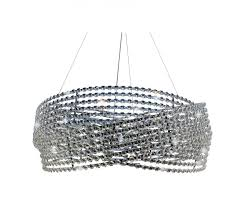 diamante 3 ring chrome crystal chandelier