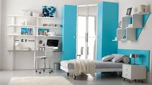 modern bedroom blue. Modern Bedroom With Blue And White Palette Combination Clear Cut Furniture Also Wheeled Bed Cabinet For Beach Theme Ideas S