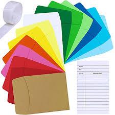 Supla 42 Set 14 Colors Small Envelopes Mini Envelopes Library