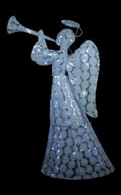 angel with trumpet lighted yard decoration
