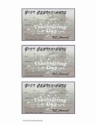 Gift Certificate Word Thanksgiving Gift Certificate 24
