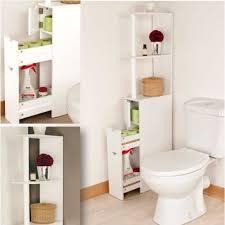SALLE DE BAIN COMPLETE Meuble WC étagère Bois Gain De Place Pour Toilette