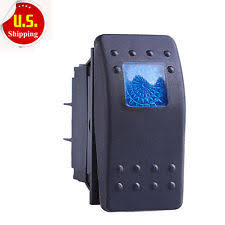 waterproof rocker switch hs waterproof marine boat car rocker switch 12v spdt on off 4 pin blue led