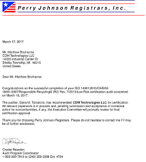 Announcement Cdm Technologies Llc Has Been Approved For Their R2