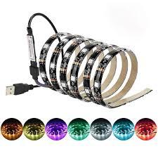 Dây đèn LED trang trí TV USB 5V 5050 60SMD/M RGB kèm thiết bị điều khiển từ  xa 17 phím giảm chỉ còn 72,999 đ
