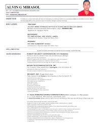 Sample Resume For Job