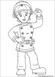 Tekeningen Te Schilderen Kleur Brandweerman Sam Print Design 064