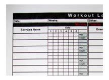 Blank Workout Logs Free Printable Workout Log