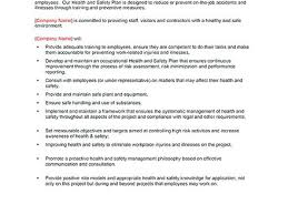 Other Health And Safety Plan Template Business Care Occupational ...