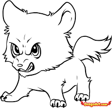 cute simple wolf drawing. Simple Wolf How To Draw Chibi Wolf Jacob Step By Step Chibis For Cute Simple Drawing 9