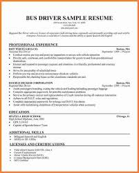 Driver Resume Awesome Bus Driver Resume LimousineDriverResumejpg Sweep48