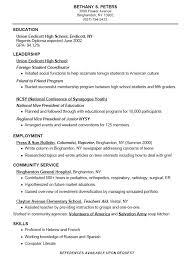 Sample High School Resume Bravebtr
