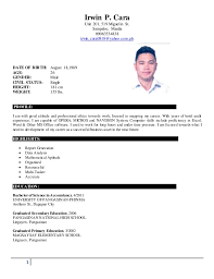 1 Irwin P. Cara Unit 201, 519 Miguelin St. Sampaloc, Manila 09063534838 ...