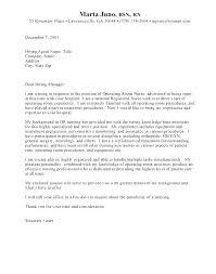 Example Of A Nursing Cover Letter Sample Nursing Application Cover