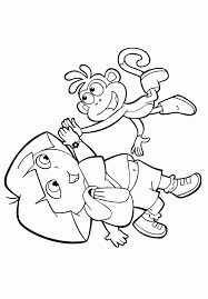 Kids N Funcom Coloring Page Dora The Explorer Dora And Boots