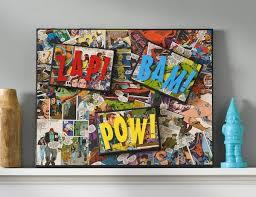 ic book craft diy superhero canvas