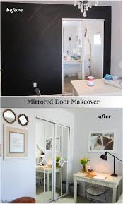 mirrored sliding closet door makeover you won t believe how easy it is