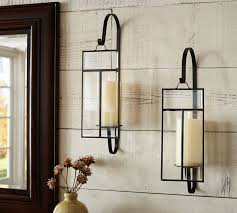paned gl wall candle sconce pottery barn