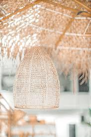 Gehaakte Raffia Lamp Marokko Naturel Noa May