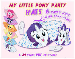 Small Picture My Little Pony Party Hats Pony birthday Pony hat Party