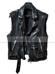 men s biker style zipper leather vest 219 00 159 00