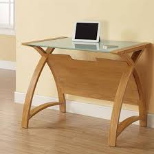 glass computer desks uk desk furniture in fashion wood designs 19