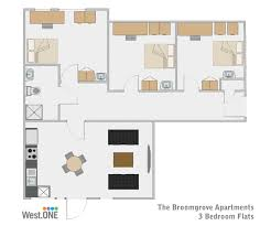 Student Accommodation Sheffield, 3 Bedroom Apartment
