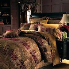 red damask comforter set best bedding ideas on rustic cabin decor king brown
