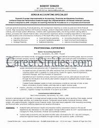 Resume Format For Experienced Accountant Pdf Lovely Accounting