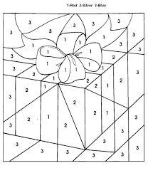 Small Picture Coloring Pages Christmas Gift Color By Number Coloring Pages For