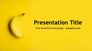 Powerpoint Backgrounds Yellow Free Banana Powerpoint Template Prezentr Ppt Templates