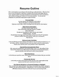 Resume Bullet Points Examples Fresh An Application For Scholarship