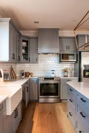 Kitchens With Grey Cabinets Cool Are Grey Kitchen Cabinets Better Than White Warline Painting