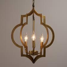 endearing gold quatrefoil 3 light pendant lamp about moroccan chandelier