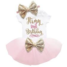 Baby Girl Clothes 1st 2nd Birthday Cake Smash Outfits Infant