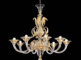 gold modern murano chandelier syl1425k8