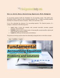 how to solve basic accounting equations with examples by suzann issuu