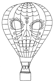 Amazing Hot Air Balloon Coloring Page 77 For Your Download ...