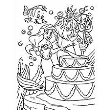 mermaid colouring sheet. Modren Colouring Little Mermaid And King Neptune In Birthday Party Coloring Pages Inside Colouring Sheet G