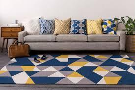 artistic weavers joan 6087 fulton navy blue yellow gray rug