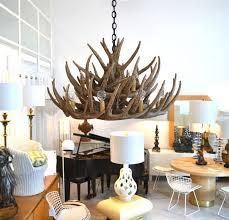 faux antler chandelier deer