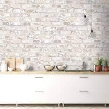 Kitchen Wallpaper Brick Effect ...
