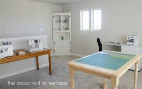 New Sewing and Craft Table The Seasoned Homemaker