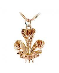 cymru gold 9ct rose gold large pow feathers pendant wp8
